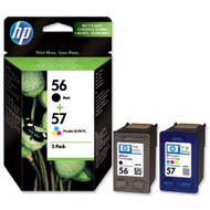 HP 56 / 57 Original Black & Tri-Colour 2 Pack Ink Cartridges Multipack - (HP 56, HP56, HP57, HP 57, C6656A, C6657A, SA342AE)