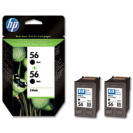 HP Original 56 Twin Pack Black Ink C9502AE
