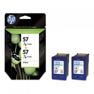 HP Original 57 Twin Pack Tri-Colour Ink C9503AE