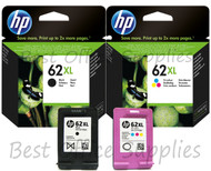 HP Original 62 XL Multipack Ink Cartridges (C2P05AE/C2P07AE)
