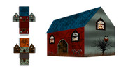 Free Printable 3-D Haunted House