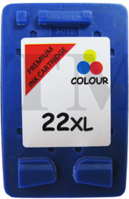 HP 22 XL Remanufactured Ink Cartridge - High Capacity Tri-Colour Ink Cartridge - Compatible For (C9352CE, HP22XL, HP 22XL)