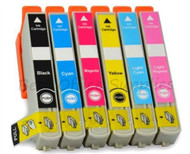Epson 24XL Compatible Ink Cartridges Multipack - 6 Colour Black / Cyan / Magenta / Yellow / Photo Cyan / Photo Magenta T2438 ELEPHANT INKS Cartridges (C13T24384011)