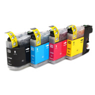 Brother LC127 / LC125 XL Compatible Ink Cartridges Multipack Pack - High Capacity 4 Colour - Black / Cyan / Magenta / Yellow