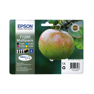 Epson T1295 Original Ink Cartridges Multipack - High Capacity 4 Colour - Black / Black / Cyan / Magenta / Yellow (C13T12954010, T1295, C13T12954012)