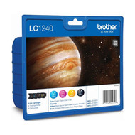 Brother LC1240 Original Ink Cartridges Multipack - High Capacity 4 Colour Black / Cyan / Magenta / Yellow