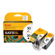 Kodak Original 30 Black & 30 Colour Set Ink Cartridges