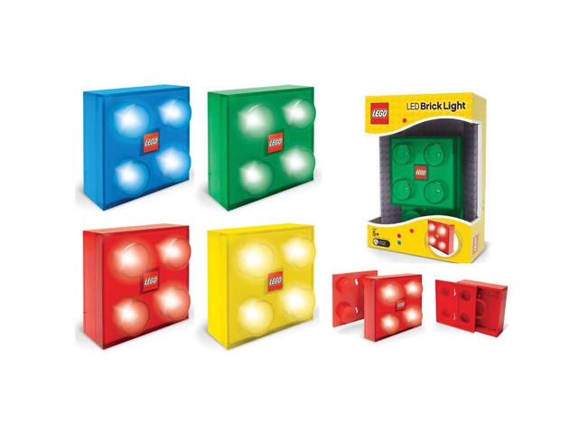 2x2 LEGO Brick LED Light with Color Cover Official LEGO CITY LED Series STYL019600