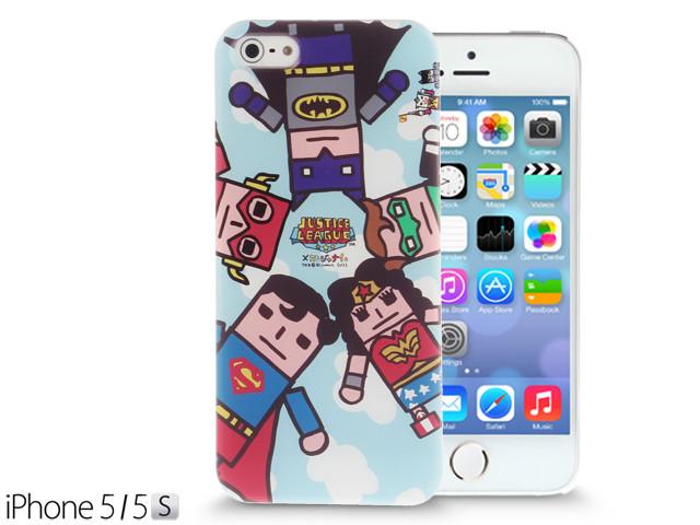 iPhone SE / 5 / 5S / 5C Comic Case: Justice League X Korejanai DC Comics Heroes - 5 Heroes Back Case + Screen Protector CMCA030200 by IQCUBES.COM
