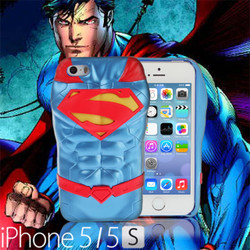 Collector Series iPhone SE / 5 / 5s Comic 3D Protective Case: The New 52 DC Comics SuperHeroes - SUPERMAN (CMCA033900) by IQCUBES.COM