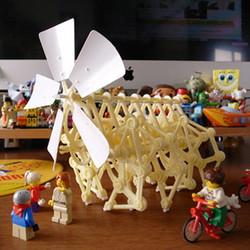 DIY Desktop Kinetic Sculpture Assembly Kit - Mini Strandbeest by IQCUBES.com DIYT003200