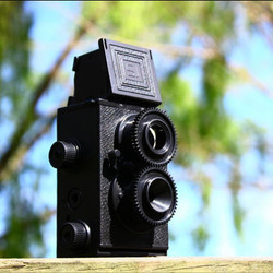 DIY Twin Lens Reflex Camera Set  (DIYT001400) by IQCUBES.COM
