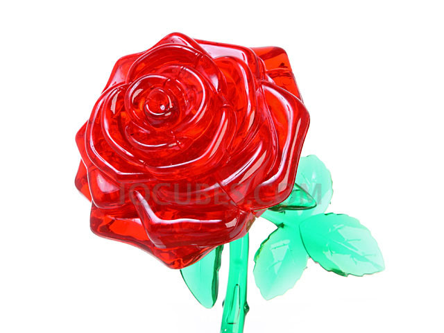 3D Crystal Puzzle - ROSE (IQBG000700) by IQCUBES.COM