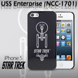 iPhone 5 / 5S Comic Case Star Trek - USS Enterprise Top View Phone Case (Limited Edition) (CMCA012300) by IQCUBES.COM
