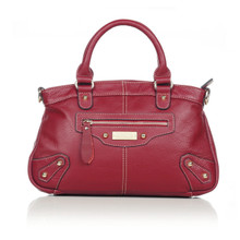 aretha 141071 Leather top handle bag red
