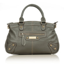 aretha 141071 Leather top handle bag grey