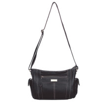 aretha 141111 Genuine Leather crossbody bags black