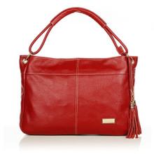 aretha 141121 Genuine Leather shoulder bag red