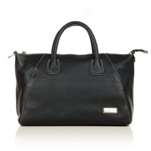 aretha 141141 Genuine Leather top handle bag black