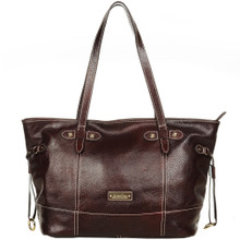 aretha 141181 Genuine Leather top handle bag red