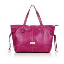 aretha 141181 Genuine Leather shoulder bag purple