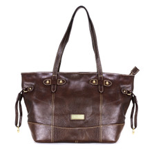 aretha 141181 Genuine Leather shoulder bag coffee