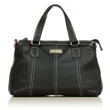 aretha 141201 Genuine Leather shoulder bag black