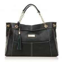 aretha 141211 Genuine Leather shoulder bag black
