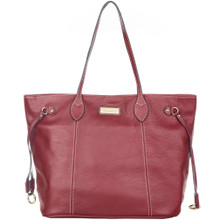 aretha 141261 Genuine Leather shoulder bag red