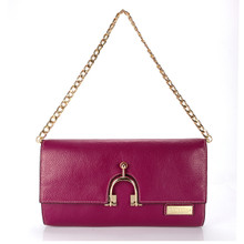 aretha 141301 Genuine Leather clutch bag purple