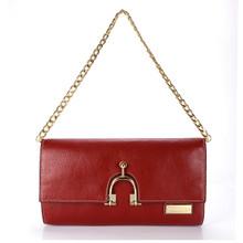 aretha 141301 Genuine Leather clutch bag yellow