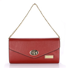 aretha 141302 Genuine Leather clutch bag red
