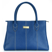 aretha 141350 Genuine Leather top handle bag blue