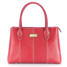 aretha 141350 Genuine Leather top handle bag red