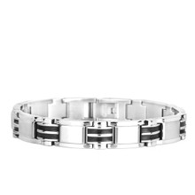 aretha BR50409-21 316L Stainless Steel Bracelet silver