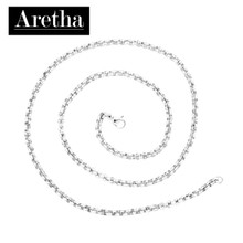 aretha CH52796-45 316L Stainless Steel Necklace silver