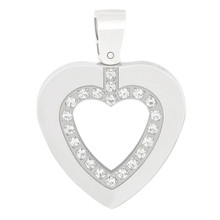 aretha P52226 316L Stainless Steel Pendant silver