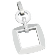 aretha MOP134 316L Stainless Steel Pendant silver