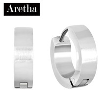 aretha ER50001 316L Stainless Steel Earrings silver