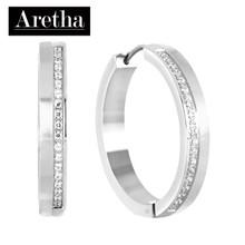 aretha ER52156 316L Stainless Steel Earrings silver