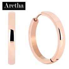 aretha ER50230-IPR 316L Stainless Steel Earrings black