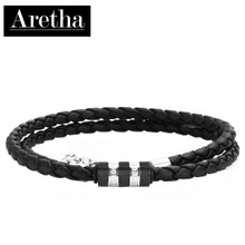 aretha CH53092-45+5 316L Stainless Steel Necklace black
