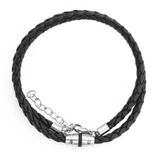 aretha CH53048-45+5 316L Stainless Steel Necklace black