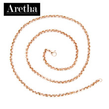 aretha CH82796-50 316L Stainless Steel Necklace rose gold