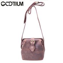 Gootium 40754BR Top Quality Genuine Leather Ladies Cross Body Bag,Brown