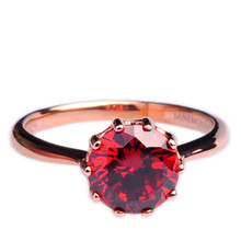 Mnemosyne Hermosa Ruby 14k Rose Gold Plated 925 Sterling Silver Fine Jewelry Unique Engagement Anniversary Ring
