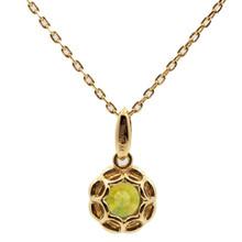 Mnemosyne Elvira peridot pendant necklace Gold plated 925 silver Fine jewelry pendant necklace