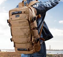 Canvas large vintage men duffle travel backpack school campus bag