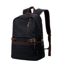 Canvas large men backpack school campus bag camping bag