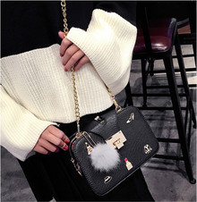 Leather women cross body bag shoulder handbag wallet purse